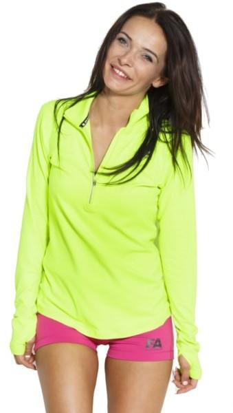 Fitness Authority Bluza damska, FASW Long sleeve W 01 Run, zielona, rozmiar XS