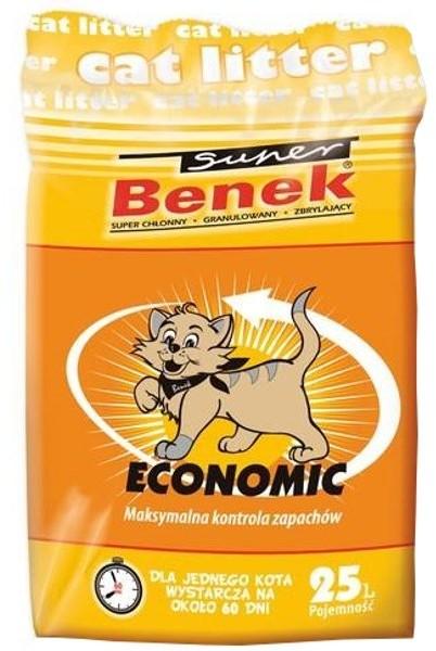 Certech Super Benek Economic żwirek dla kota zbrylający 25l