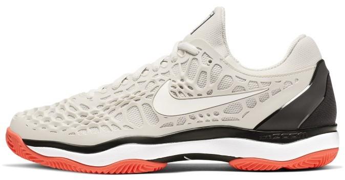 Nike Męskie buty do gry w tenisa na kortach ziemnych NikeCourt Zoom Cage 3 - Kremowy 918192-009