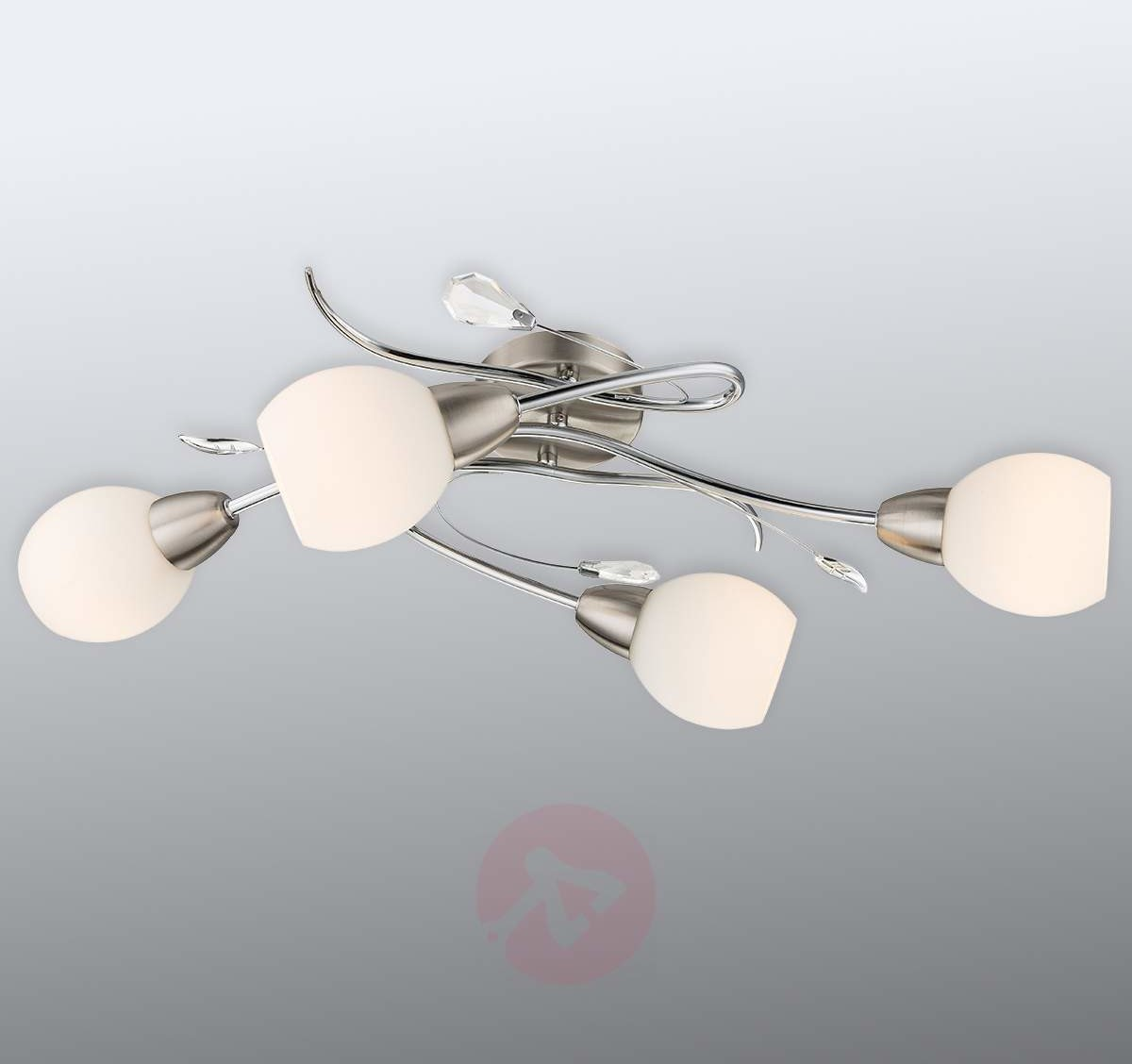 Globo Lighting Lilly lampa sufitowa Nikiel matowy, Chrom, 4-punktowe 60209-4