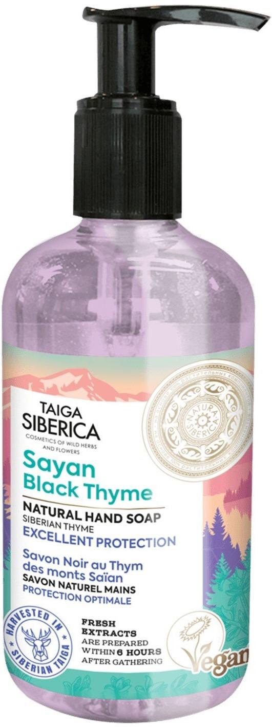 Natura Siberica Taiga Siberica, ochronne mydło do rąk Sayan z czarnym tymiankiem, 300 ml 300 ml   SZYBKA WYSYŁKA!