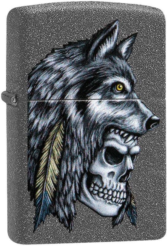 Zippo 29863 Wolf Skull Feather Design zapalniczka 191693090710
