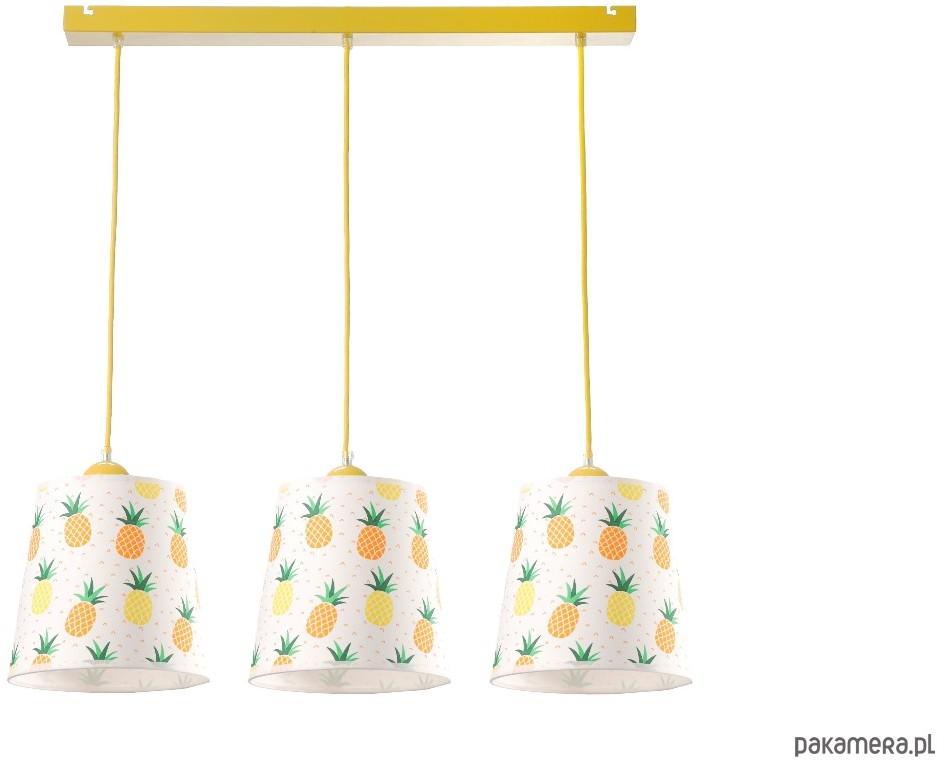 Lampa wisząca ANANAS 3pł żółta HIT 2019