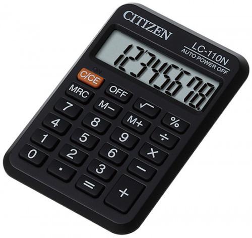 Citizen CI-LC110N Kalkulator kieszonkowy LC-110 8-cyfro 87x58 czarny 8-cyfrowy CI-LC110N