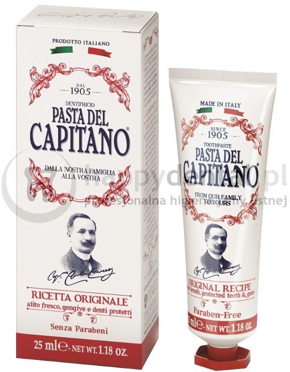 Ciccarelli PASTA DEL CAPITANO RICETTA Originale 75ml (czerwona) - włoska pasta do zębów o smaku cynamonu