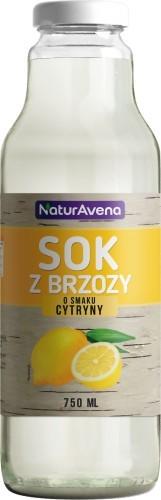 NaturAvena Sok z brzozy o smaku cytryny 750ml -