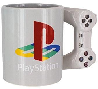 Playstation filiżanka w kształcie kontrolera PS4, podwójna filiżanka do kawy/herbaty, kubek do picia w stylu retro, ceramiczny element kolekcjonerski, oficjalny produkt licencjonowany, standardowy roz