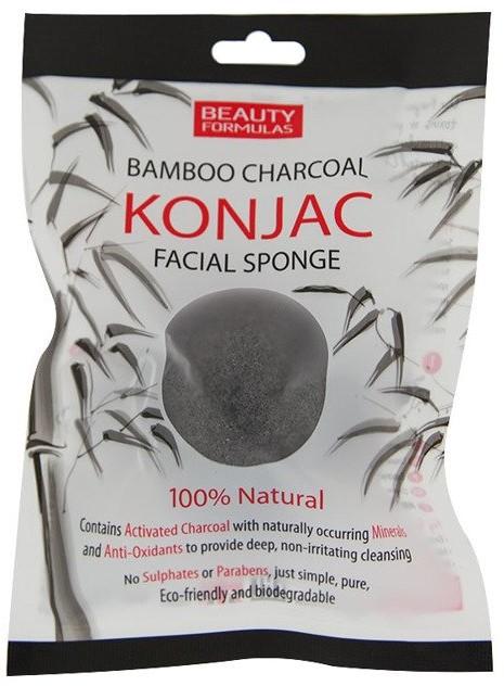 Konjac Beauty Formulas Beauty Formulas Bambo Charcoal Facial Sponge Gąbka z węglem bambusowym 32275-uniw