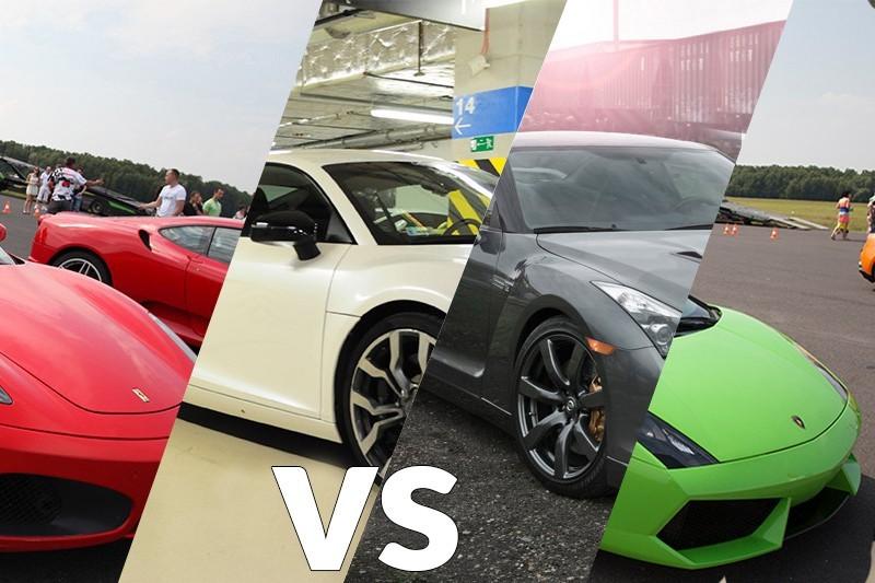 go racing Audi R8 vs Ferrari F430 vs Lamborghini Gallardo vs Nissan GTR   : Ilość okrążeń - 4, Tor - Tor Olsztyn, Usiądziesz jako - Kierowca