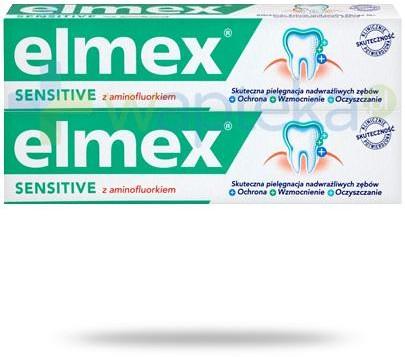 Colgate Palmolive Elmex Sensitive pasta do zębów z aminofluorkiem 2x 75 ml [DWUPAK] 7068117