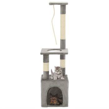 vidaXL Drapak dla kota ze słupkami sizalowymi 109 cm szary GXP-683115