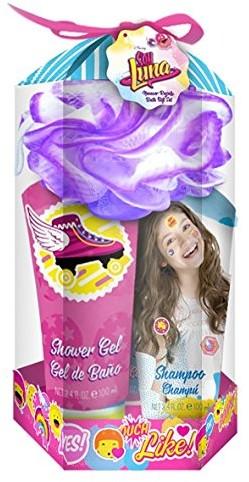 SOY LUNA Soy Luna Disney zestaw do kąpieli, -częściowy zestaw składa się z następujących elementów (100ML) żel pod prysznic, szampon (100ML), gąbka balsam do ciała (100ML) i kwiaty, 1er Pack (1X 1sztuki) 6621