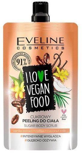 Eveline Cosmetics I Love Vegan Food cukrowy peeling do ciała Vanilla Latte 75ml 92867-uniw