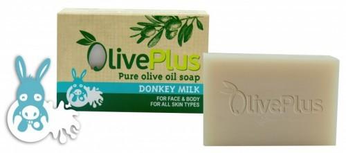 OlivePlus Greckie Mydło Oliwkowe z Oślim Mlekiem 100g - Oliveplus