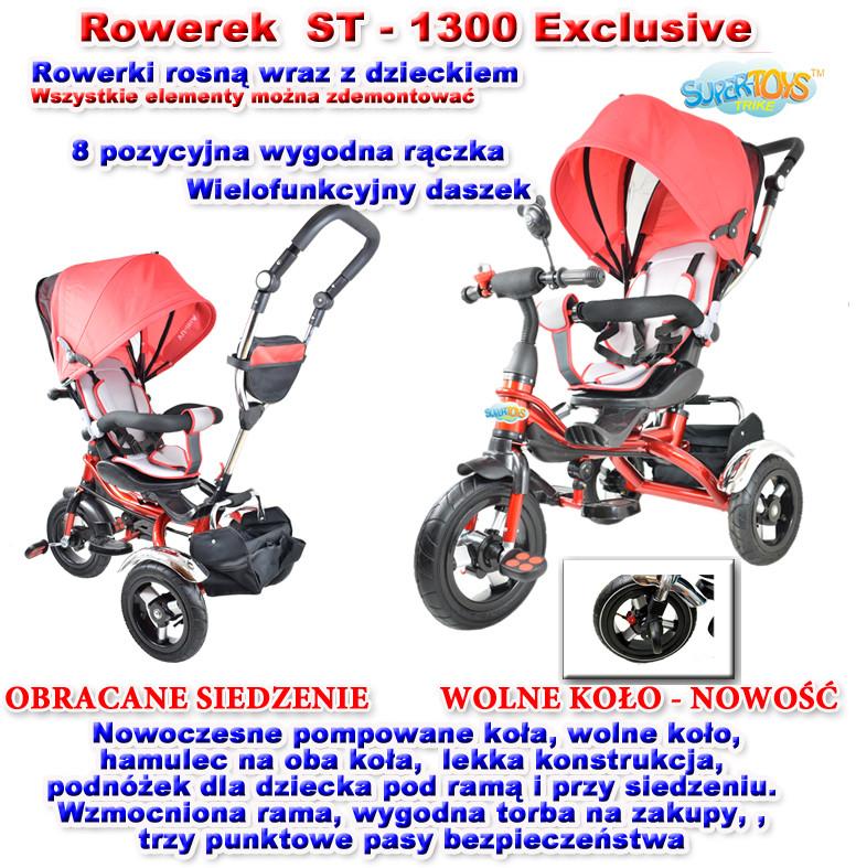 Import SUPER-TOYS    EXCLUSIVE POMPOWANE KOŁA CZERWONY