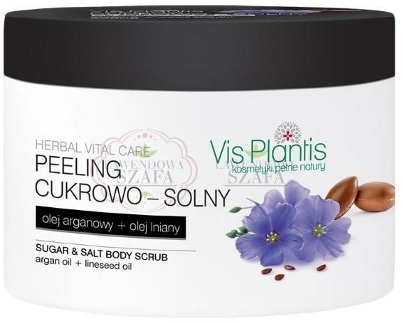 Vis Plantis VIS PLANTIS VITAL CARE, PEELING CUKROWO - SOLNY, OLEJ ARGANOWY + OLEJ LNIANY, 200 ML