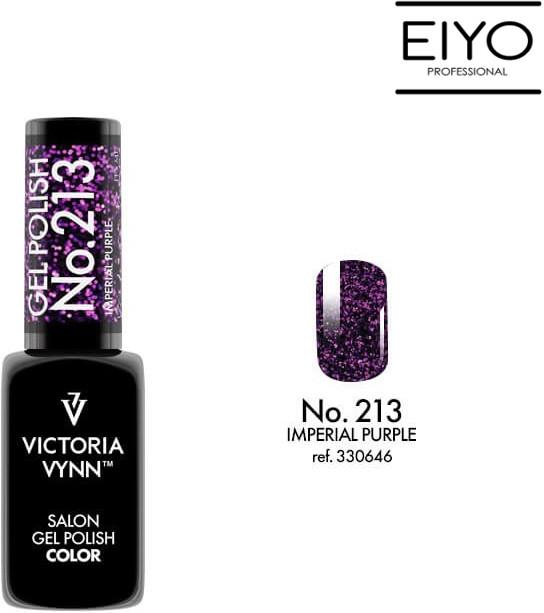 Victoria Vynn Lakier hybrydowy GEL POLISH COLOR Imperial Purple nr 213 8 ml NOWOŚĆ! 330646