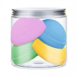 Nacomi zestaw musujących kul do kąpieli mieszanka 4 kolorów 4 półkule 330g