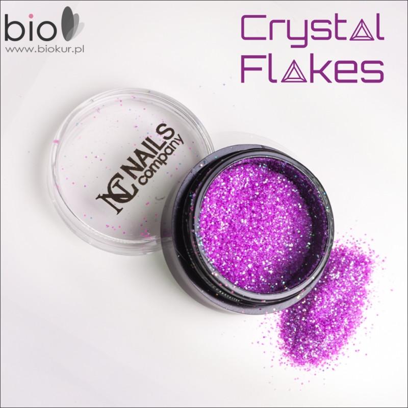 Nails Company Crystal Flakes Neon Violet Nowość ! CFNeonViolet
