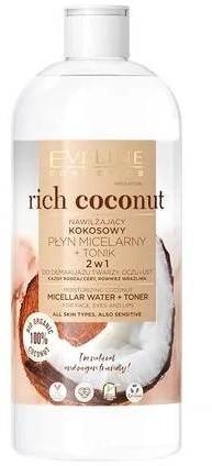 Eveline Rich Coconut Nawilżający kokosowy płyn micelarny i tonik 500ml 56587-uniw