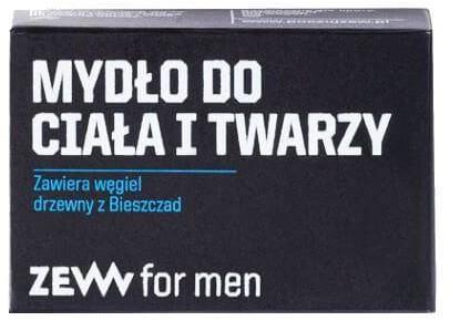 Zew For Men Mydło do ciała i twarzy z węglem drzewnym z Bieszczad 85ml
