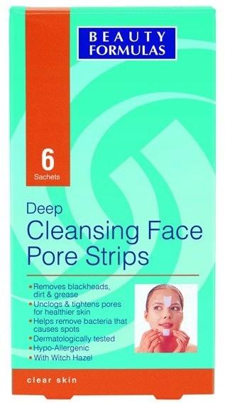 Beauty Formulas Oczyszczające paski na twarz 6 szt