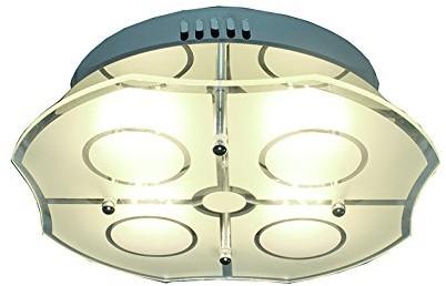 Eco Light ECO Light lampa sufitowa LED Varese, chrom, 1400LM, 24W, 27x 27cm, IP20, w kolorze srebrnym 8707 8707