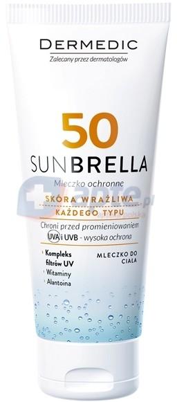 Biogened Dermedic Sunbrella SPF50 mleczko ochronne 100g