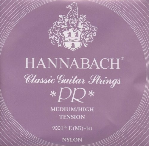 Hannabach Klassik Gita rrensaiten Serie 900 Medium/High Tension Silver 200  E1 9001MEDIUM/HIGH
