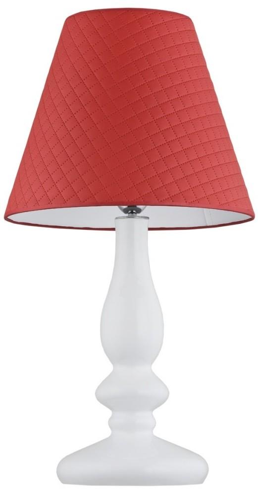 Argon Lampa stołowa 1x60W E27 ASTORIA Czerwona/Biała 3435 ARGON