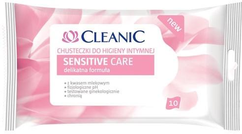 Cleanic Chusteczki do higieny intymnej 10 sztuk Sensitive