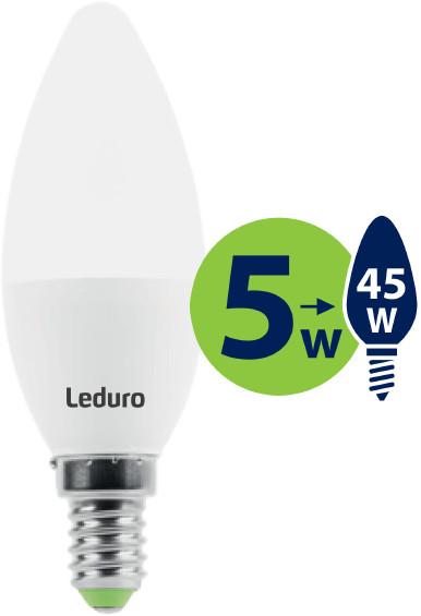 Leduro com Żarówka LED C35 LED 5W 400lm 180 E14 21188