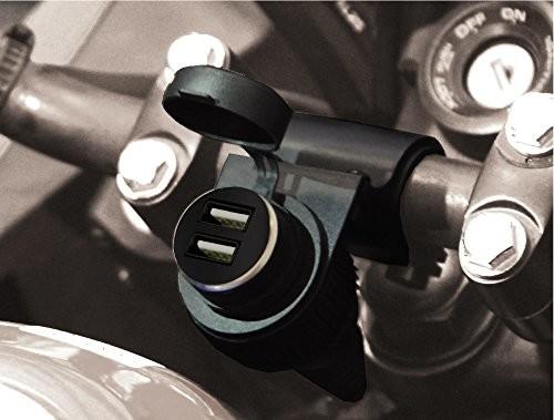 BC Battery Controller BC battery Controller 710-s12u sbdual wodoszczelne bordsteck puszka/Gniazdo zapalniczki samochodowej z mocowanie na kierownicę do motocykla 710-S12USBDUAL