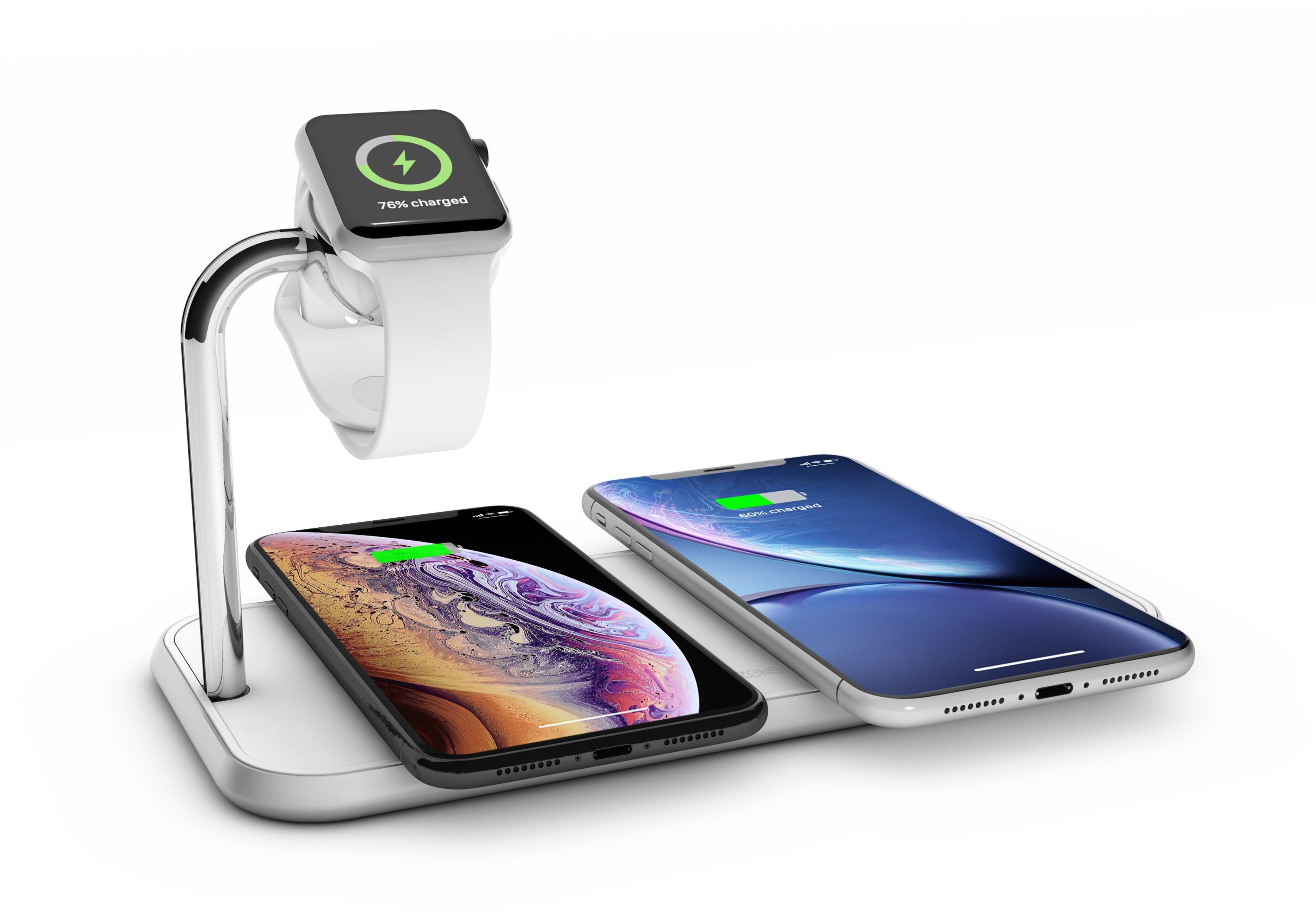 ZENS Dual+Watch - Aluminiowa Ładowarka Bezprzewodowa Do Dwóch urządzeń oraz Apple Watch (ZEDC05W/00)