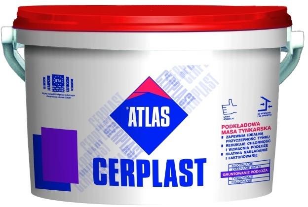 Atlas Podkład pod tynki Cerplast 15 kg 660 kg w wiaderkach 15 kg