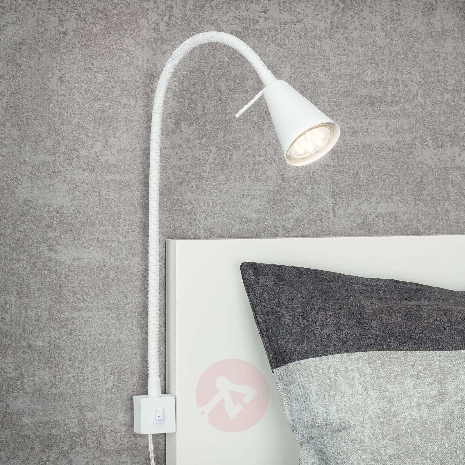 Briloner Kinkiet LED 2080 do montażu przy łóżku, biały