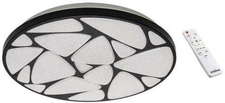 Ideus Plafon LAMPA sufitowa MINERAL LED C 03726 metalowa OPRAWA plafon LED 48W 3000K 6500K okrągły IP44 biały czarny 03726