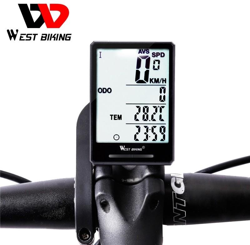 West Biking bezprzewodowy komputer rowerowy prędkościomierz przebieg deszczoodporny rower mierzalna