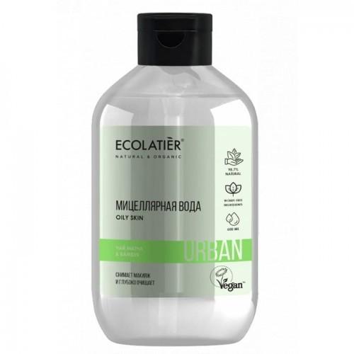 Dla Urban Woda Micelarna Do Demakijażu Wrażliwej Skóry Herbata Matcha I Bambus 600 Ml Ecolatier Urban