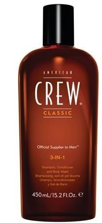 American Crew 3in1 Shampoo Conditioner And Body Wash szampon odżywka i żel do kąpieli 250ml 50797-uniw
