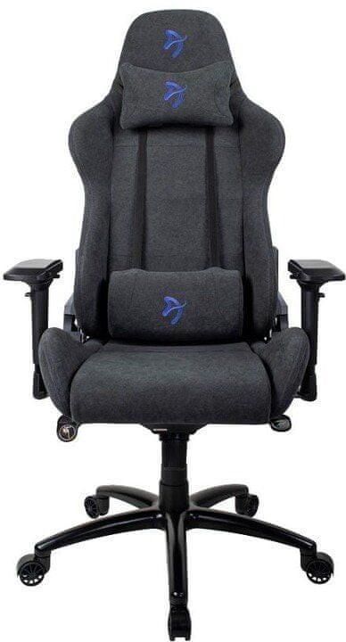 Arozzi Verona Signature Soft Fabric czarno-niebieski (VERONA SIG SFB BL))
