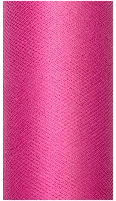 PartyDeco Tiul gładki, różowy, 0,08 x 20 m TIU8-006