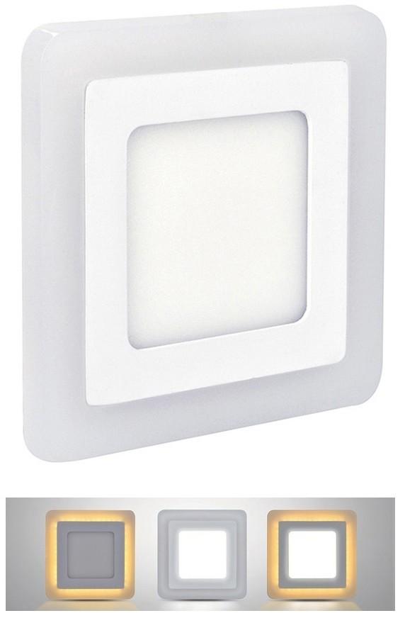 Solight LED Oprawa wpuszczana LED/18W+1xLED/6W 245x245 mm