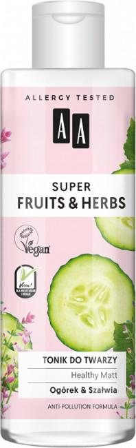 Oceanic Super Fruits&Herbs tonik do twarzy ogórek/szałwia 200ml 52825-uniw