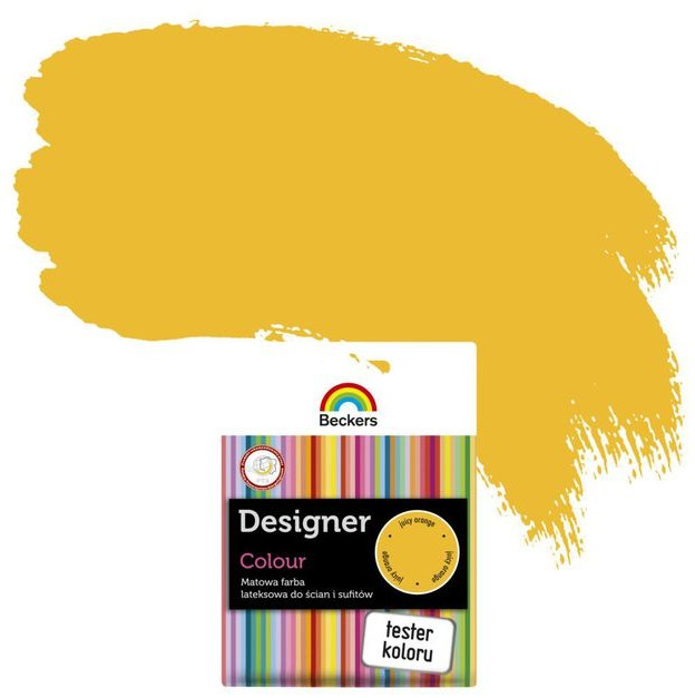 Beckers Tester farby DESIGNER COLOUR Juicy orange
