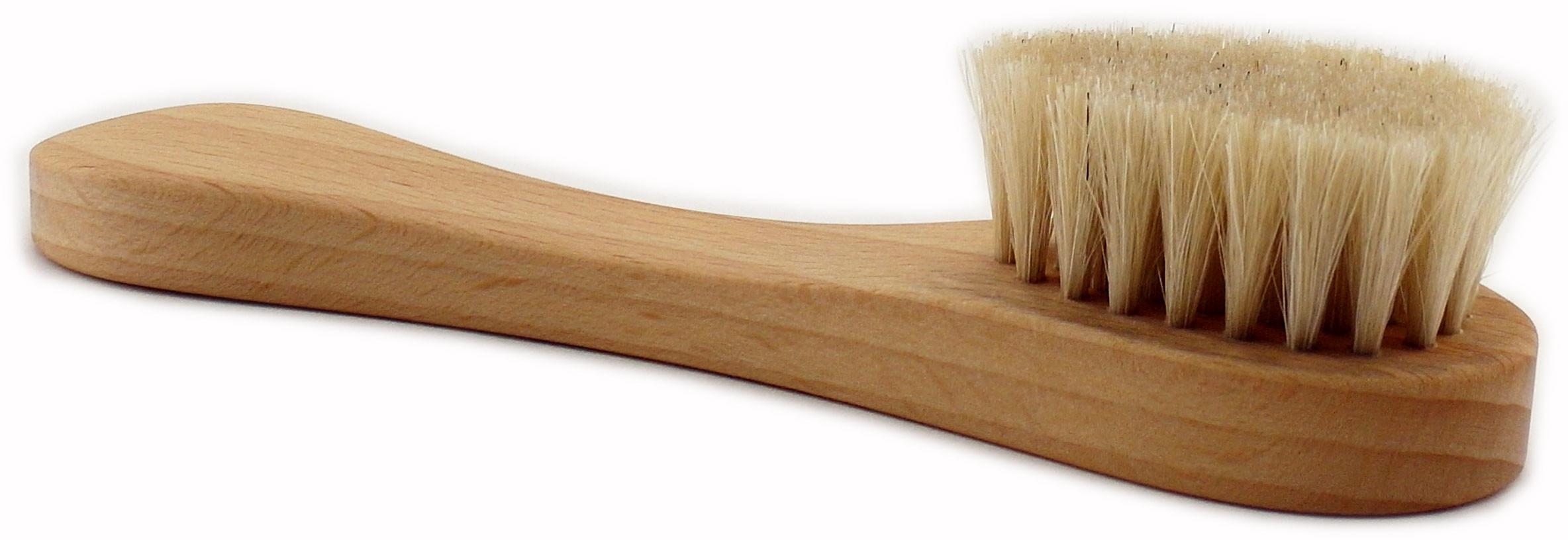 Szczoteczka do masażu twarzy z naturalnego włosia
