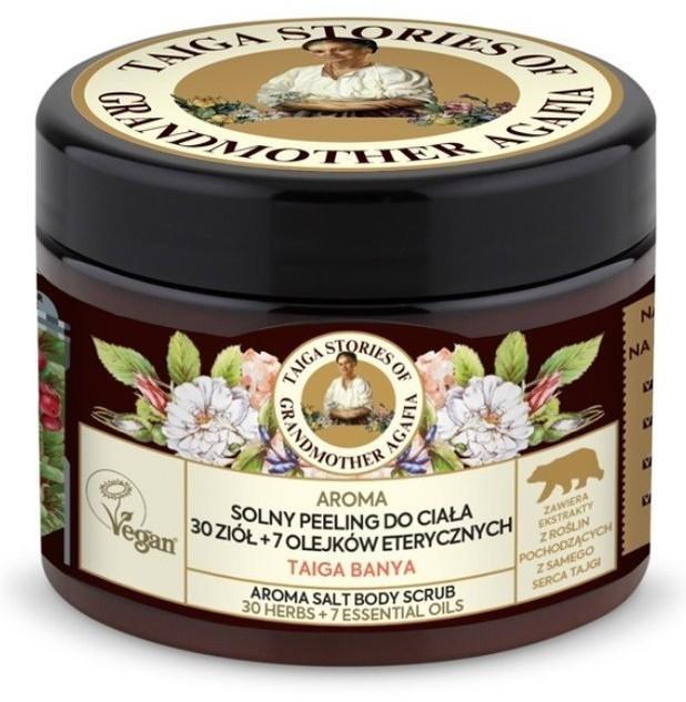 Pierwoje Reszenie Receptury Babuszki Taiga Stories Solny peeling do ciała 30 ziół+7 olejków eterycznych 300ml 53446-uniw