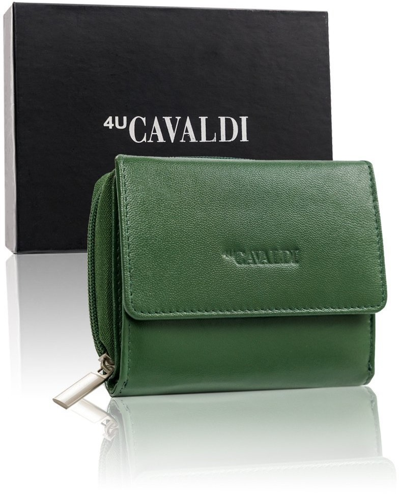 Cavaldi 4U Skórzany portfel damski skórzany poziomy