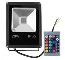 PREMIUM Halogen, naświetlacz LED RGB 20W + pilot LUX06156