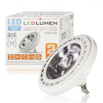 LEDlumen AR111-AP G53 15W 12V COB CCD CW 128969976